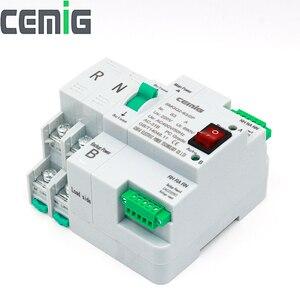 Image 3 - Atsデュアル電源自動転送スイッチ無停電電源SMGQ2 63/2 3p ac 230v 16Aに63A家庭用35ミリメートルレールインストール