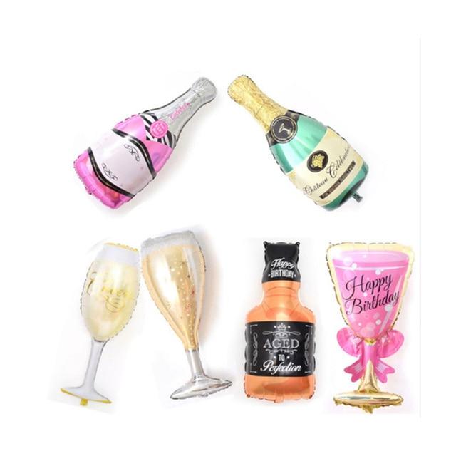 082 28 De Descuentogigante Partido Globos Champagne Whisky Copa De Vino Botella Forma Globos Inflables Para Cumpleaños De La Boda Decoración