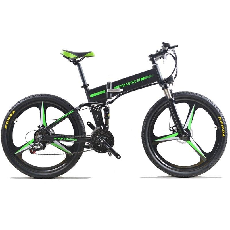48 В 350 Вт Электрический велосипед Горный гибридный Электрический велосипед Водонепроницаемый каркас внутри Li o 7,8 Ah Батарея складной e велос...