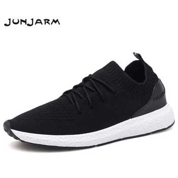 JUNJARM Breathable Men Sneakers Men Casual Shoes Adult Black High Quality Comfortable Non-slip Soft Mesh Men Shoes 38-46 - DISCOUNT ITEM  35 OFF Shoes