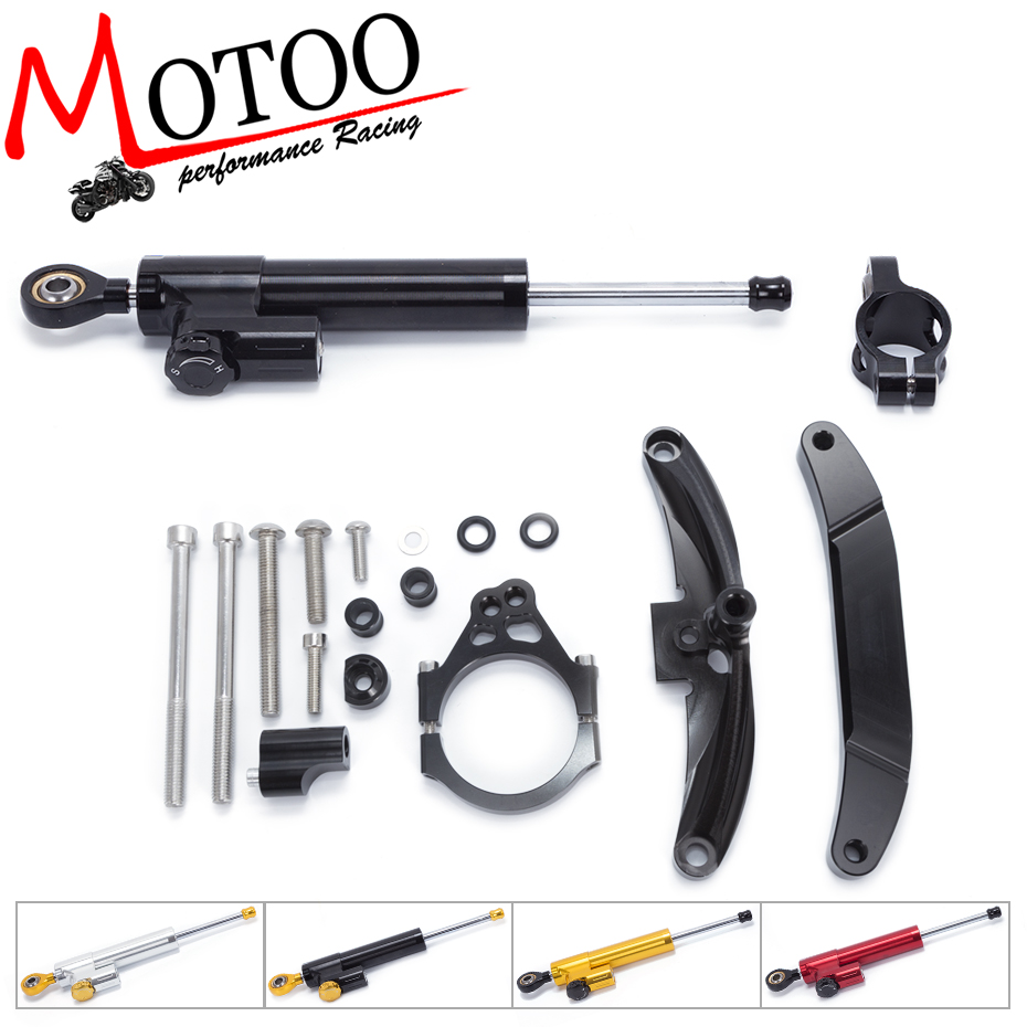 Motoo - FREE SHIPPING For Yamaha FZ1 FAZER 2006-2015 Motorcycle Aluminium Steering Stabilizer Damper Mounting Bracket Kit motorcycle cnc steering damper mounting bracket for yamaha fz1 fazer 2006 2007 2008 2015
