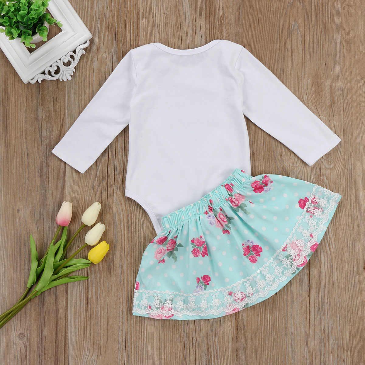 2017 prinses kant bloemen kid baby meisje set zusje romper + rokken grote zus t-shirt + rokken herfst baby meisje outfits