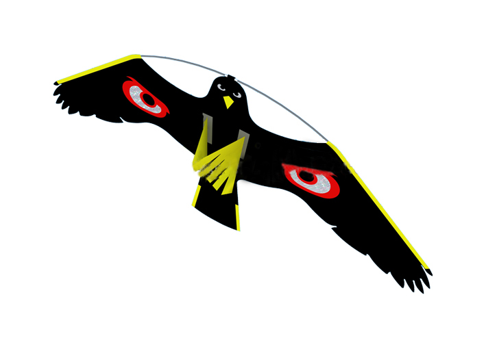Bird scarer -Flying Hawk kite for garden Scarecrow Yard and House decoration,kite only