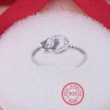 Chegada nova authentic 925 sterling silver sparkling flor anel micro pave cz para as mulheres anel de casamento jóias frete grátis