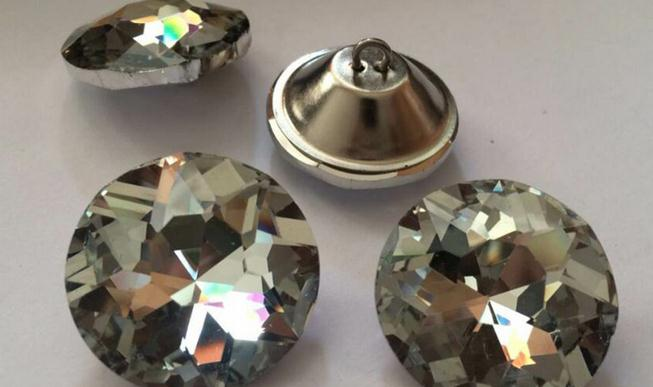 Home & Garden Buttons Original 18mm 3 Color Satellite Drill Soft Package Crystal Sofa Decorative Buckle Rhinestones Buttons Glass Crystal Button
