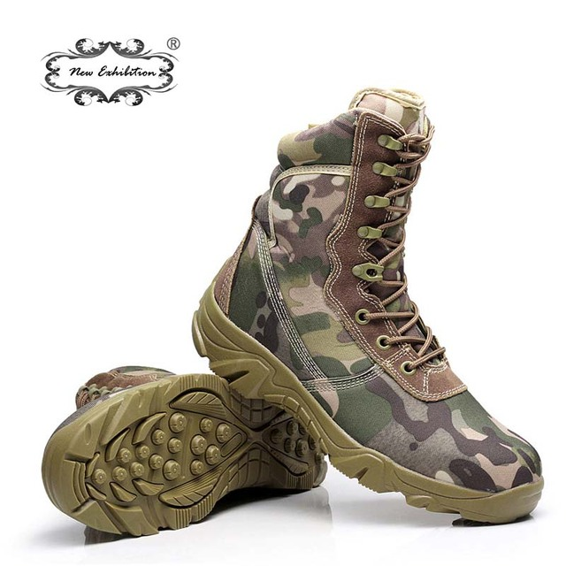 Yeni sergi kamuflaj erkek askeri bot Python desen taktik savaş botları açık erkek iş ayakkabısı bot botines hombre L45