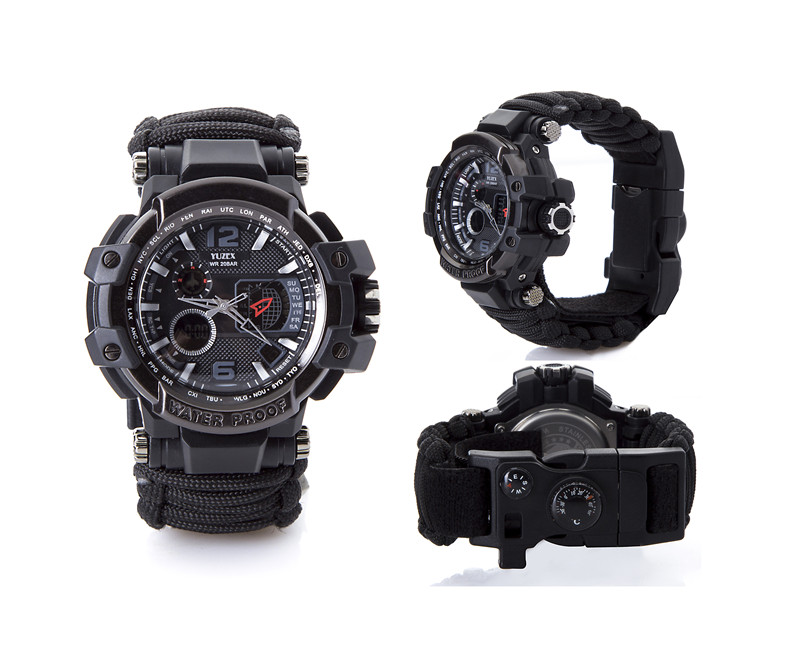 Waterproof paracord watch survival outdoor camp (7)