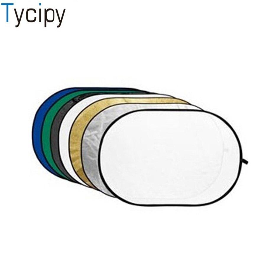 Tycipy 150*200 7in1 Réflecteur pouces Ovale Flash Photographie Studio Vidéo Photo Pliable Refletor Lumière Disque
