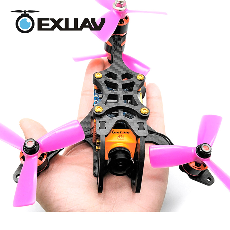 EXUAV Y120S 120mm Wheelbase FPV Racing Drone Y4-TYPE design Carbon Fiber Frame Flytower Racing MINI F4 for DIY Mini RC Toys 270g awesome f100 100mm quadcopter frame kit wheelbase mini four axis aircraft pure carbon fiber for fpv rc racing drone frame kit