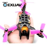 Exuav Y120S 120 мм Колесная база FPV Racing Drone Y4 TYPE дизайн углеродного волокна рамка flytower гонки мини F4 для поделок мини rc игрушки 270 г