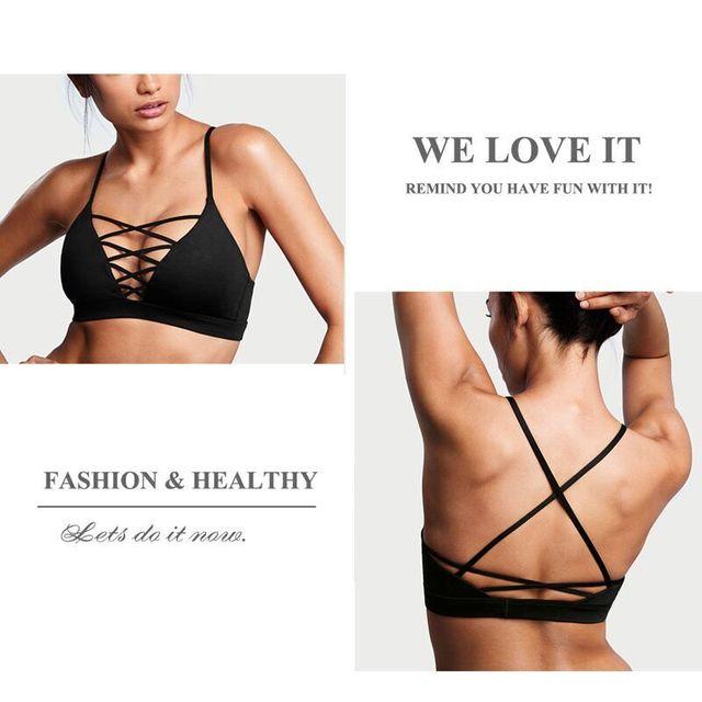 Female Sexy Sports Bra Crisscross Front Back New Active Yoga Running Wear Gym Bra Women Vest Seamless Crop Tops 2