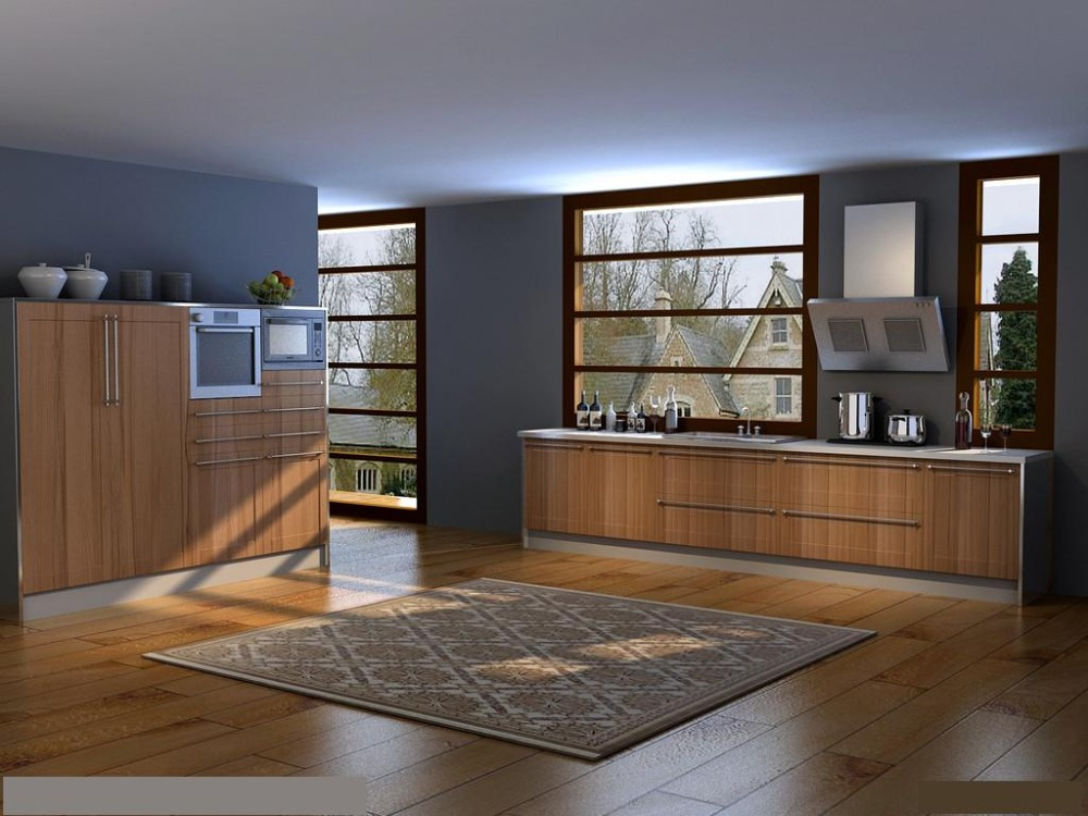 High Quality White Lacquer High Gloss Kitchen Cabinet-in