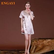 2017 New Robes Women Nightgown Night Dress Silk Satin Sexy Robe Bathrobe  Nightwear Lace Nightdress Sleepwear Night Gown SQ026 7deab3809205