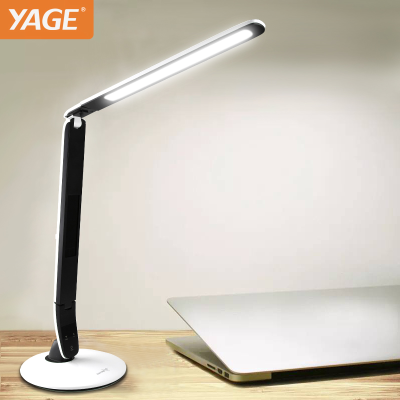 YAGE 5919 LED Table Lamp Book Light for Reading office led desk light Touch On/Off Thermometer and Calendar function light Table yage desk lamp book reading night light colorful lamp for study non limit brightness 34pcs led 3 modes lamp eu usa uk plug