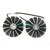 1set For ASUS DUAL RX470 /RX570 RX580 GTX1080Ti / 1070Ti Cooling Fan 12V 0.25A
