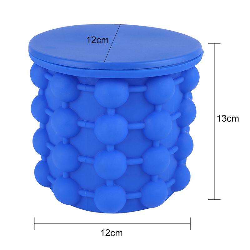 Ice Cube Maker Space Saving L Size Summer Silicone Ice Bucket Ice Maker Machine Iride Ice Genie Kitchen Bar Counter Tools