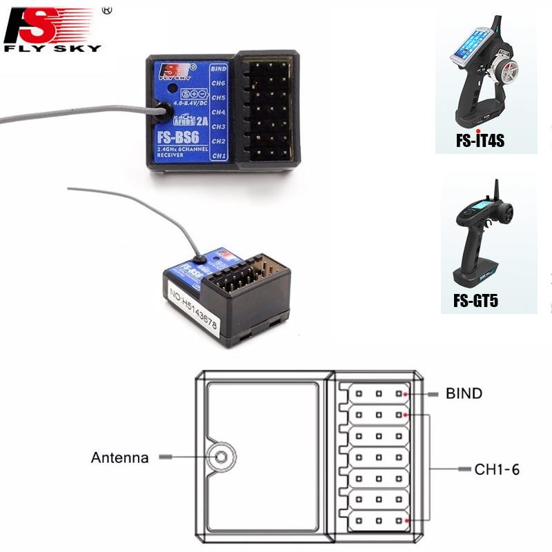 Flysky FS-BS6 FS-BS3 FS-BS4 Receiver with gyro stabilization system for Flysky FS-IT4S/ FS-GT5 Remote Control flysky fs bs6 receiver with gyro stabilization system with flysky fs it4s fs gt5 remote control