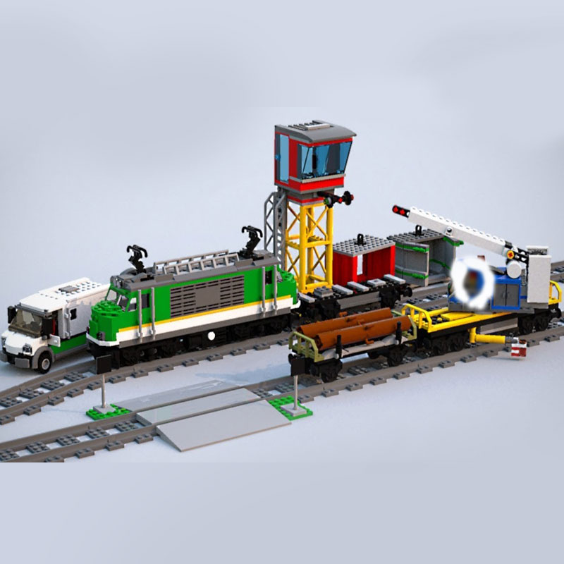 Lepin 02118 City Series compatible with Lego 60198 Cargo Train Set Building Blocks Bricks Car Kids Toys Birthday Christmas Gift 2018 lepin 02118 city series rc cargo train set compatible legoinglys 60198 city train building blocks bricks toys for children