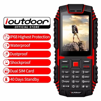 ioutdoor T1 Rugged  Phone 2G Feature IP68 Shockproof Waterproof dustproof Telefono 2.4 inch GSM Dual SIM Back Camera FM 2100mAh