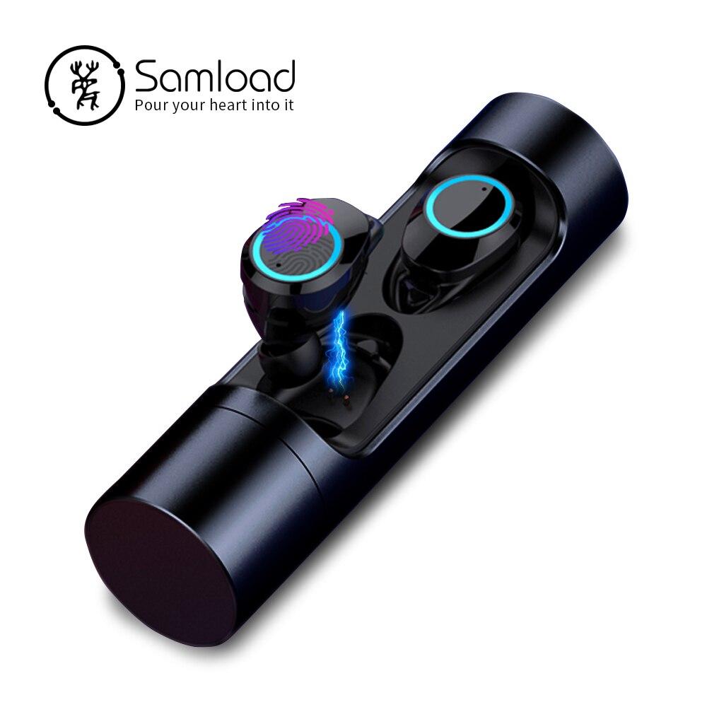 Bluetooth 5.0 casque étanche sans fil casque dans l'oreille musique écouteurs avec micro boîte de charge pour iPhone Siri Sony Huawei