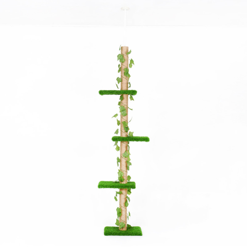 Delivery to all country <font><b>Cat</b></font> Scratching <font><b>Tree</b></font> <font><b>Tower</b></font> Fun Climbing Jumping Post Kitten Luxury Furniture <font><b>Pet</b></font> Climb Frames Toy CW065 image