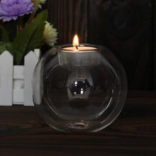 Candle-Holder Glass Crystal Wedding-Bar Dinner-Decor Home Romantic Halloween Christmas