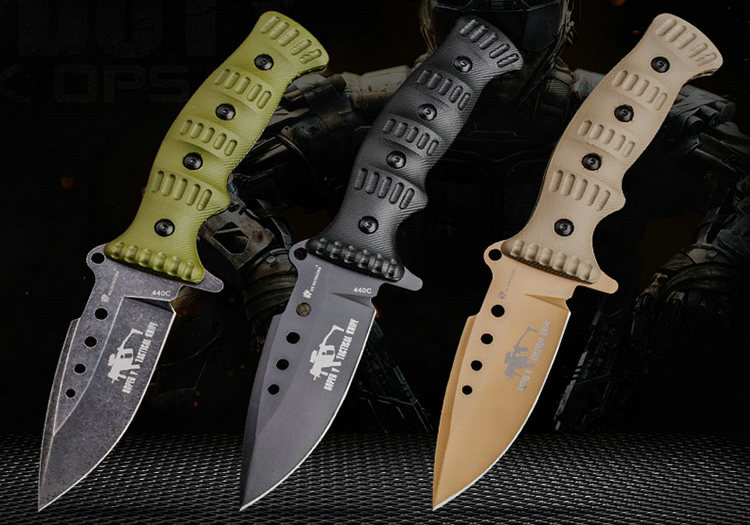 HX OUTDOORS 440c Fixed Blade Knives Survival Hunting Knives Pocket Camping Outdoor Tool EDC Gift With Kydex Sheath DropshippingHX OUTDOORS 440c Fixed Blade Knives Survival Hunting Knives Pocket Camping Outdoor Tool EDC Gift With Kydex Sheath Dropshipping