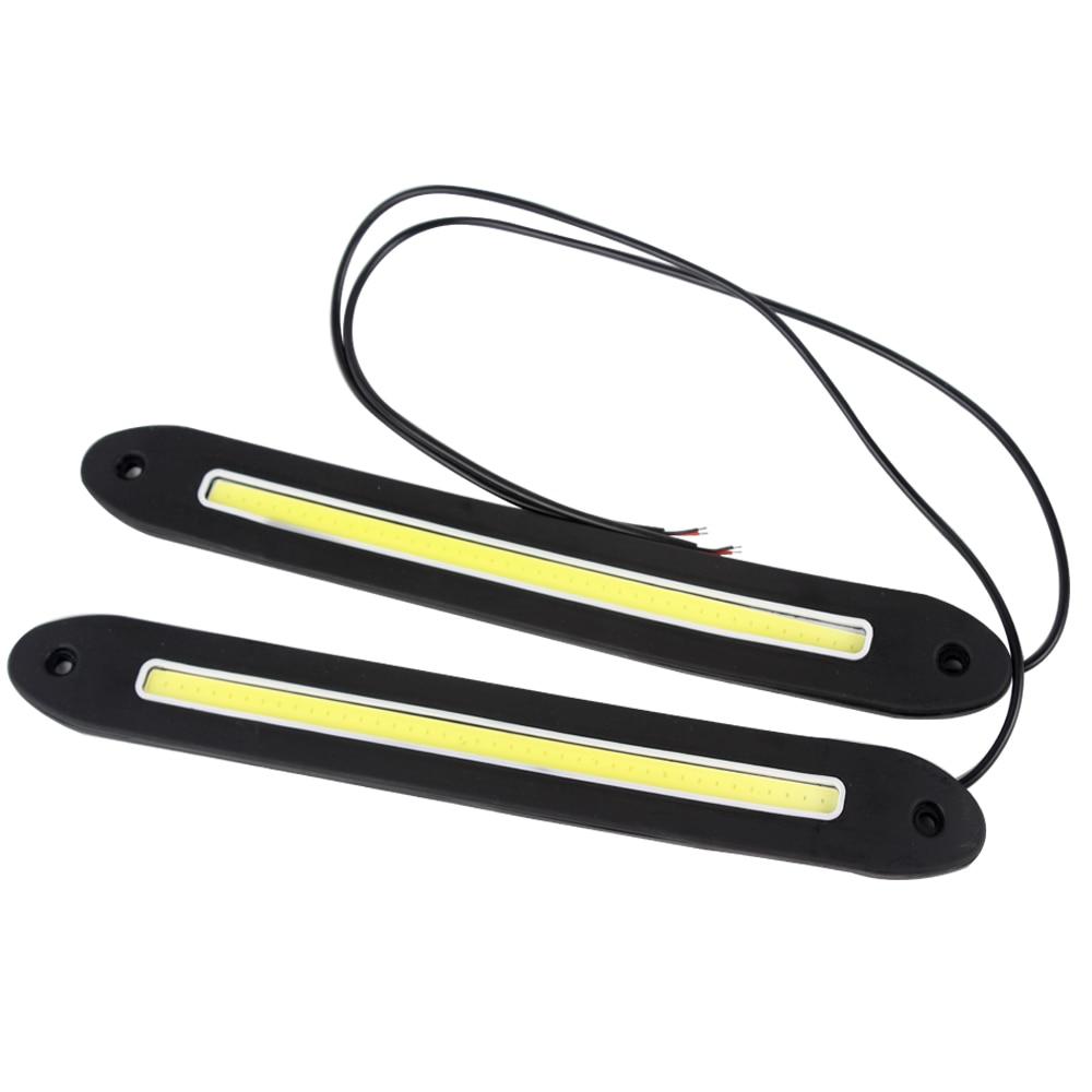 iTimo cob светодиодные огни автомобиля света DRL вождение автомобиля Лампа дневного света Универсальный гибкая стайлинга автомобилей гибкая