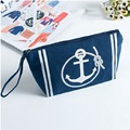 Navy Anchor Women Portable Handbag Purses Big Travel Cosmetic Bag Beauty Make up Toiletry Bag Pencil Pouch Wash Storage Bag