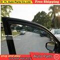 D_YL Janelas viseira car styling Chrome Vento Deflector Viso Chuva/Sun Guard Ventilação SE ENCAIXA Para Toyota Corolla NOVA Chuva shie 2008--2012