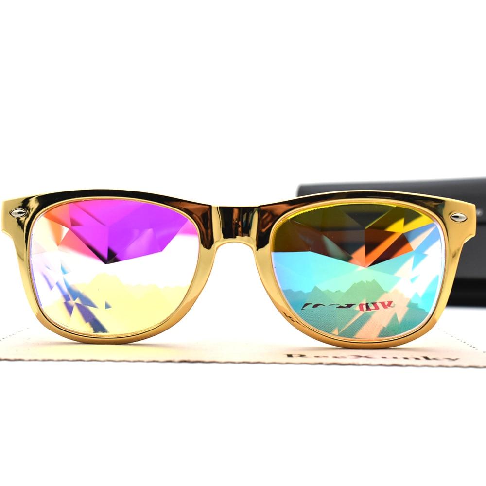 2bebf36a1 2019 Quadrado Óculos Para Homens Mulheres Rainbow EDM Óculos de Difração De  Luz Caleidoscópio Clássico Design All-Fit Espelho Rave Festival