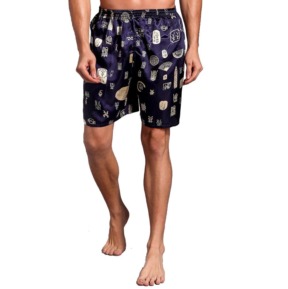 daa1cbcc4c Heißer Verkauf Neue herren Satin Sommer Neue Shorts Pyjamas Pyjamas  Männliche Casual Lounge Kurze Hosen Lose Weiche Schlaf Bottoms M L XL 2XL  in Heißer ...