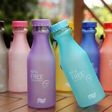 550ml Food Grade Plastic Water Bottle Sport Outdoor Drinking Bottle Cu