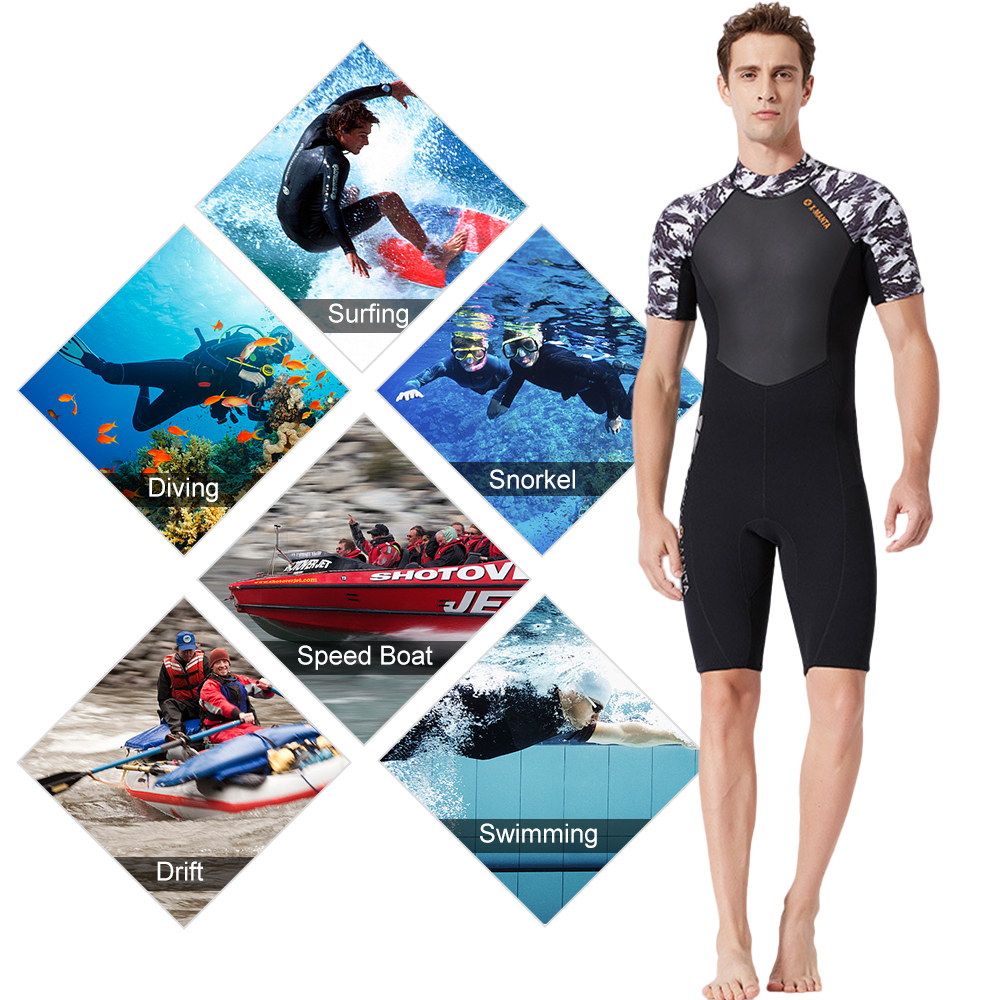 Lixada Men 39 s Thermal Diving Suit 1 5MM 3 0MM UV Protective Wetsuit Snorkeling Surfing Swimming Neoprene Fitting Diving in Wetsuit from Sports amp Entertainment