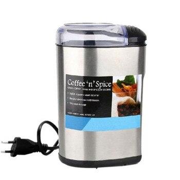 Электрический шлифовальный станок из нержавеющей стали, Малый бытовой коммерческий шлифовальный станок для кофейных зерен, 220 В, фрезерный ...