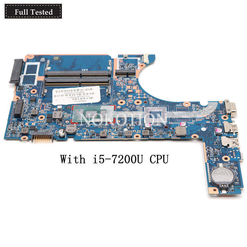 NOKOTION 907712-601 DA0X83MB6H0 Laptop motherboard For HP <font><b>450</b></font> G4 470 SR2ZU i5-7200U CPU Main Board works image