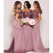 Mermaid Lace Bridesmaid Dresses Plus Size Cheap Formal Maid