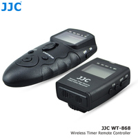 JJC 2 4GHz 56 Channels DSLR RF Wireless Timer Remote Control For CANON RS 80N3 Compatible