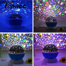 Romantic Starry Sky LED Night Light Luminous Toys Projector Battery USB Bedroom Creative Birthday For Children