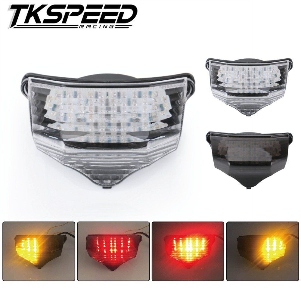 Free Shipping Motorcycle Accessories LED Integrated Tail Light Turn Signal Blinker For YAMAHA FZ6 Do 2004 2005 2006 2007 2008