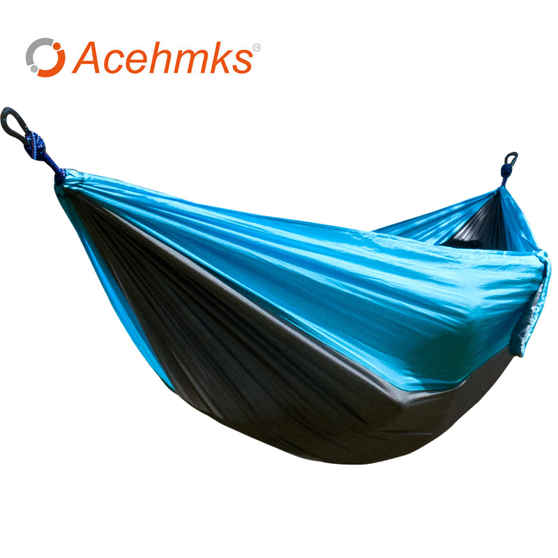 Portable paracaídas doble hamaca jardín al aire libre camping ...
