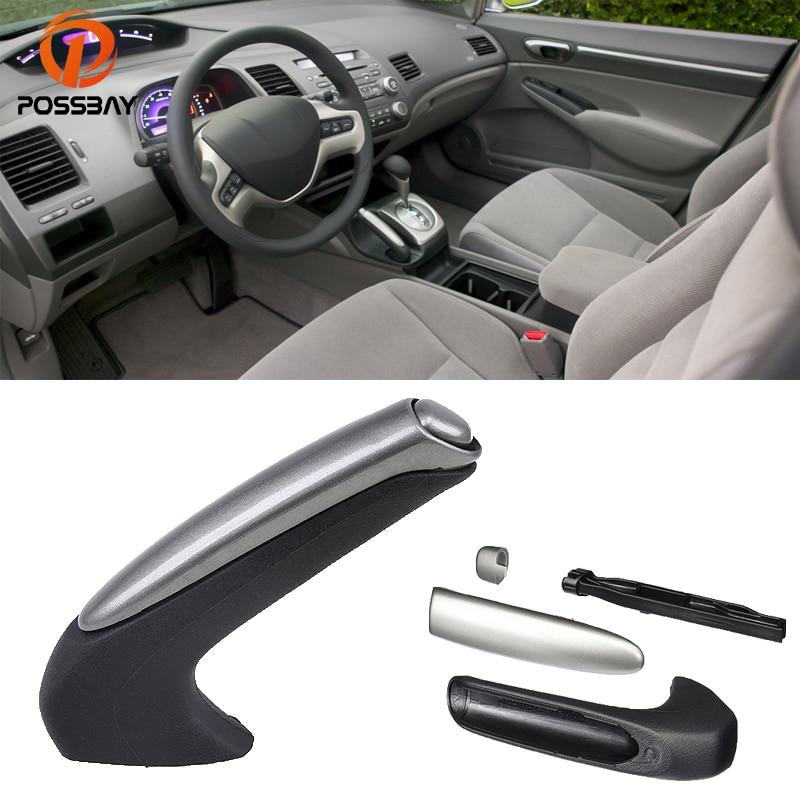 POSSBAY автомобиля стояночный тормоз ручка для Honda Civic Hybrid седан 2006 2007 2008 2009 2010 2011 интерьер ручка крышки протектор ...