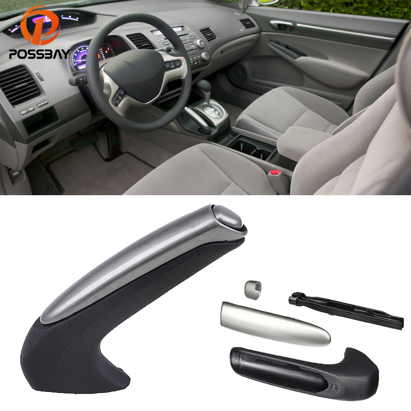 POSSBAY Car Parking Brake Handle for <font><b>Honda</b></font> <font><b>Civic</b></font> Hybrid Sedan 2006 <font><b>2007</b></font> 2008 2009 2010 2011 Interior Handle Grip Cover Protector image