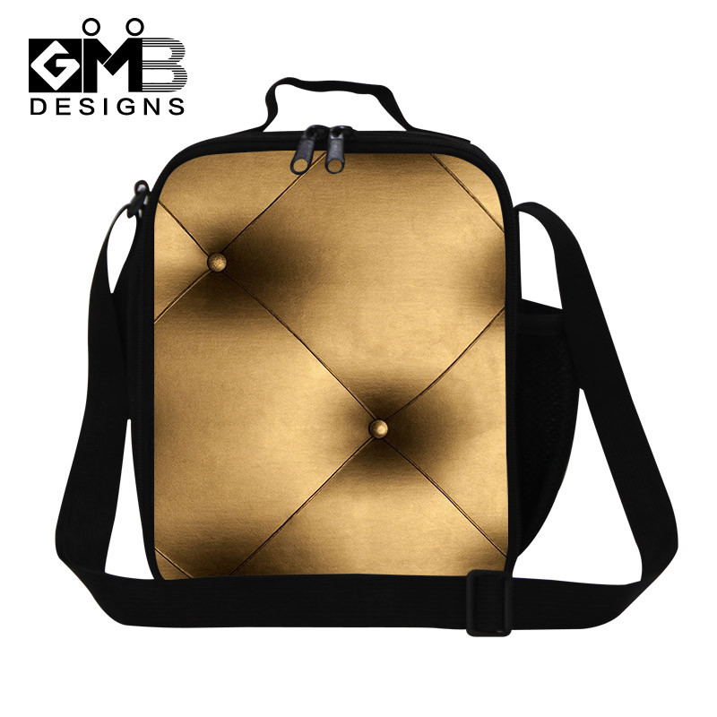 Sofa Leather Personalized flower 3D print work lunch bags for women,Young Girls insulated cooler food bag,Sling picnic bags for teenagers