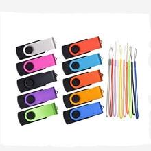 wholesale!!! 10PCS/LOT 1GB 2GB 4GB 8GB 16GB 32GB  USB Flash Stick Pendrive U Disk USB Flash Drive For Computer with free lanyard