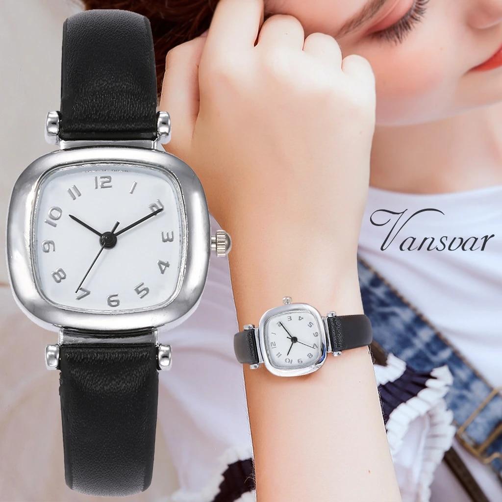 Vansvar femmes décontracté Quartz cuir bande Newv bracelet montre analogique montre-bracelet reloj mujer robe multicolore petit frais