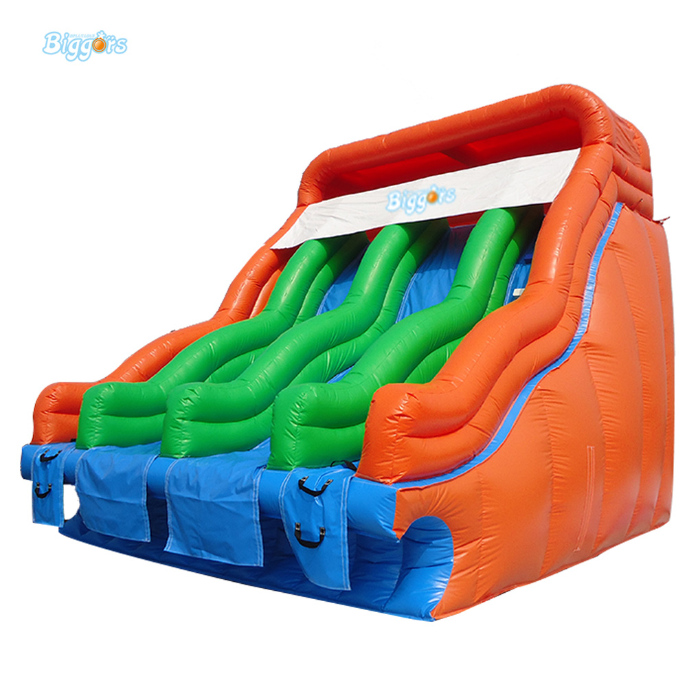 Hot Manufacturering 7x6x5m customized PVC giant inflatable water slide for sale 2017 new hot sale inflatable water slide for children business rental and water park