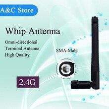 2.4G antenas de látigo antena WiFi inalámbrico 2400-2483 MHz antena SMA-M onmi para Amplificador WLAN Router Conector Para Tarjeta PCI USB