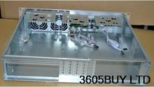 Ultrashort 2U380 aluminum panel PC Case server monitoring POS machine soft router chassis