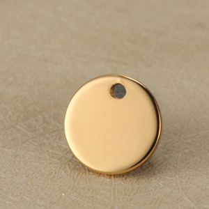Image 4 - 빈 12mm 라운드 태그 스테인레스 스틸 매력 사용자 정의 조각 로고 소량
